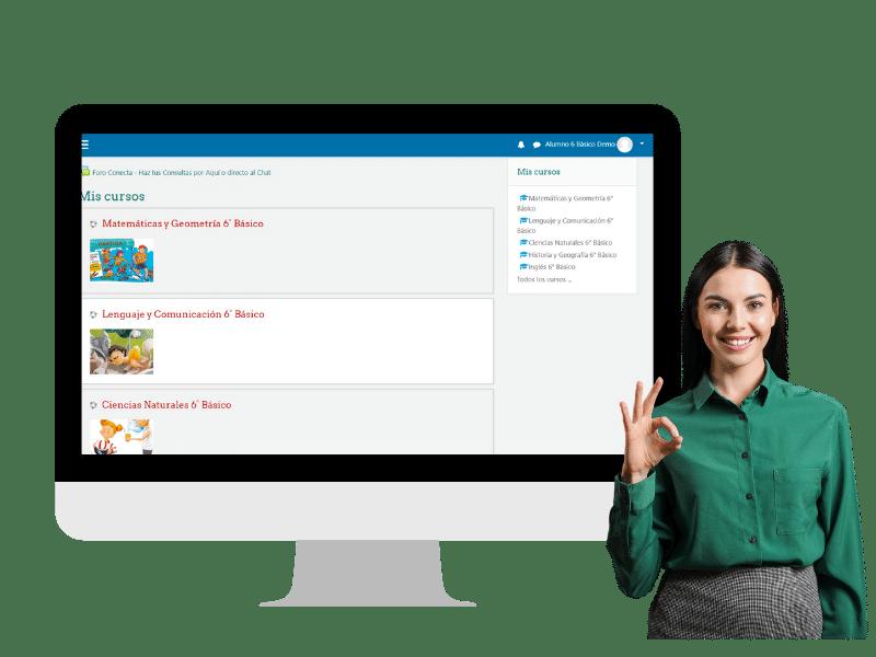 PLATAFORMA Conecta Colegio Online en Chile 1-min